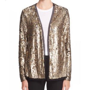 Trina Turk Lucida gold sequin jacket M
